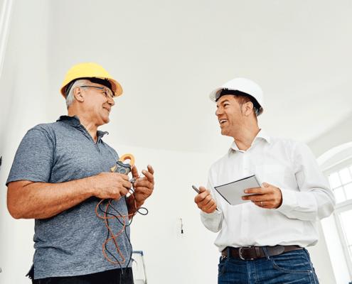 Bauherrenberatung und Besprechung