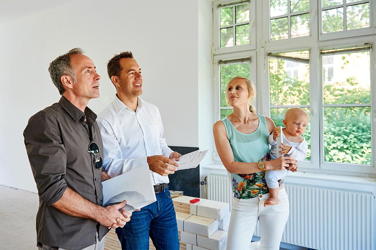 Besprechung des Baufortschritts mit unseren Kunden