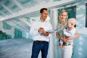 Kundenbesprechung auf der Baustelle mit Christoph Krickl