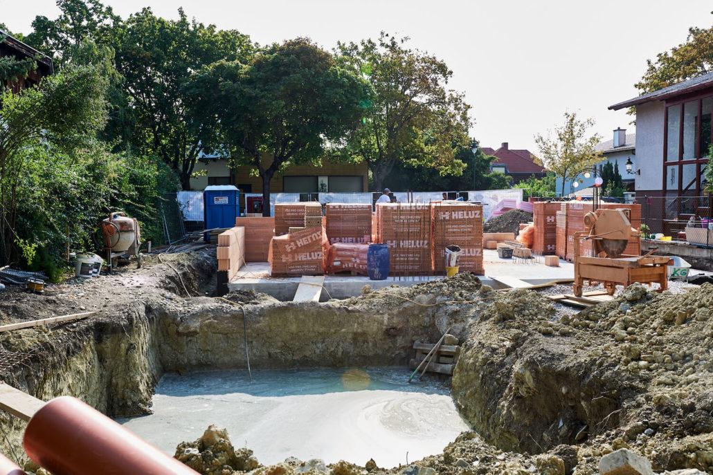 Start der Bauarbeiten bei unserem Haubauprojekt in Mödling