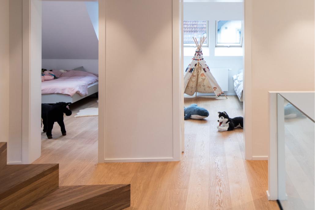 Blick in die neu renovierten Schlafzimmer